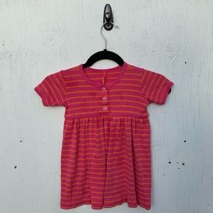 Hanna Andersson Pink Striped Henley Dress